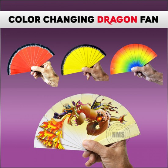 Color Changing Dragon Fan (Small)
