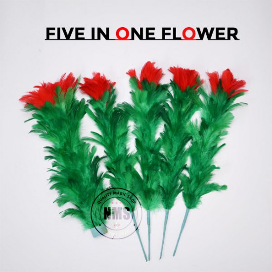 Five In One Feather Flower