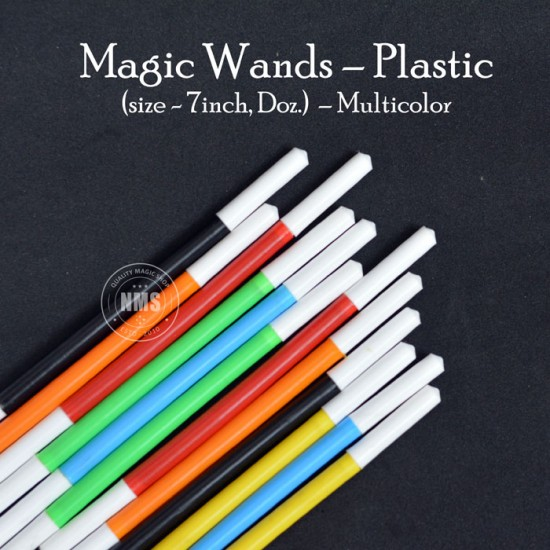 Magic Wands Plastic – Multicolor (7″ Doz.)