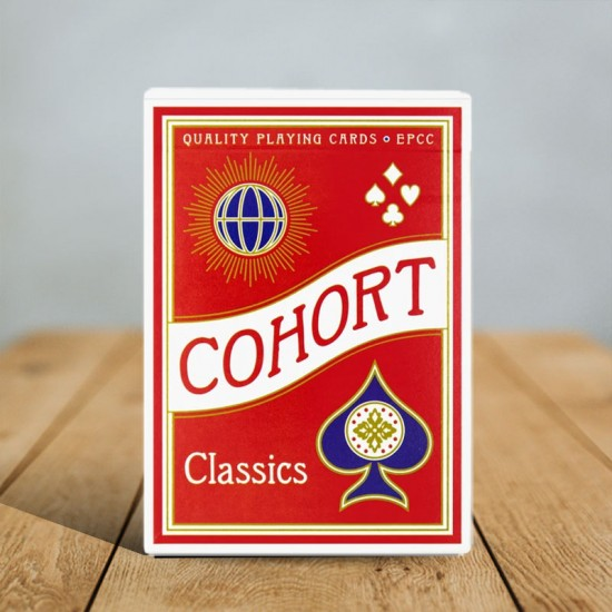 Cohorts Red V2 (Luxury-pressed E7) Playing Cards