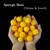 Super Soft 1 Inch Sponge Balls - Yellow