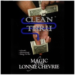 Clean Thru - Clear Thru by Lonnie Chevrie and Kozmo Magic ( VIDEO DOWNLOAD )