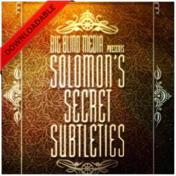 Solomons Secret Subtleties by David Solomon (VIDEO DOWNLOAD)