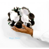 Black & White Gloves to Bouquet