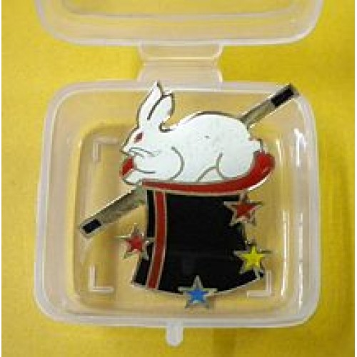 Lapel Pin - Rabbit in Hat
