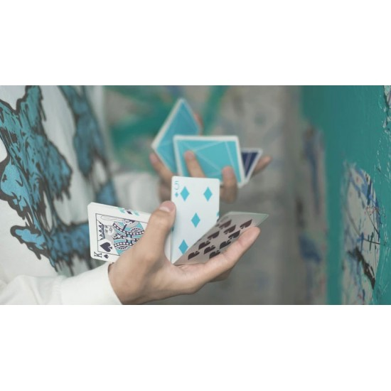 Flexible Gradients Blue Playing Cards