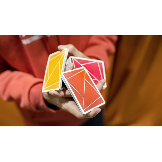 Flexible Gradients Orange Playing Cards