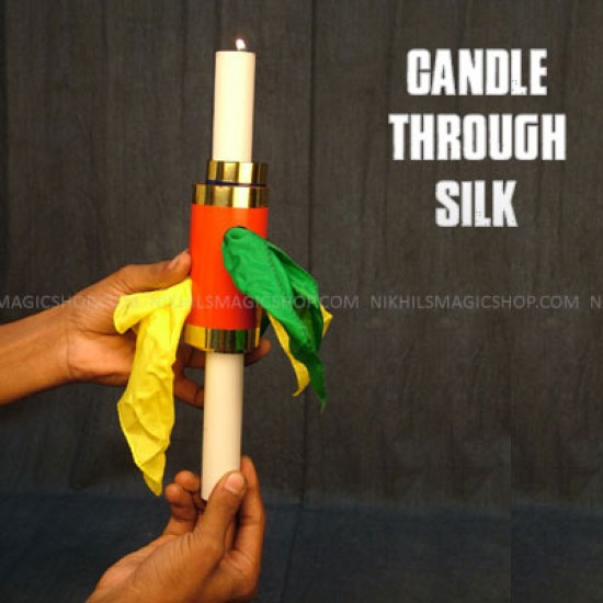 Candle through silk