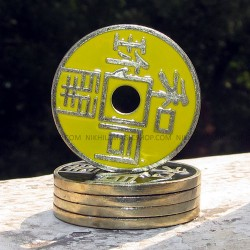 Chinese Coin Yellow ( Dollar size)