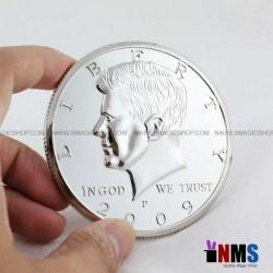 Jumbo 3 inch Half Dollar Coin Silver