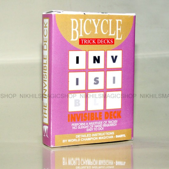 Invisible Deck Bicycle (Red)