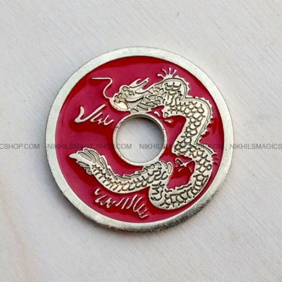 Chinese Coin Red (Half Dollar size)