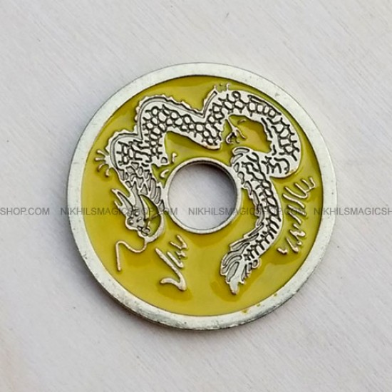 Chinese Coin Yellow (Half Dollar size)