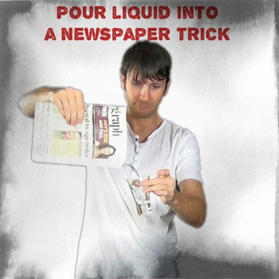 Liquid from Newspaper Gimmick