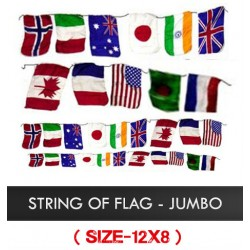 String of Flags - Jumbo 12 x 8