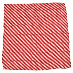 Zebra Silk 18 inch (Red & white)