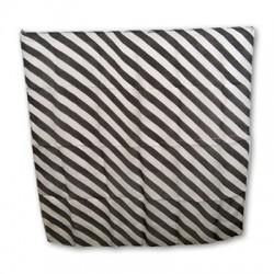 Zebra Silk 18 inch (Black & white)