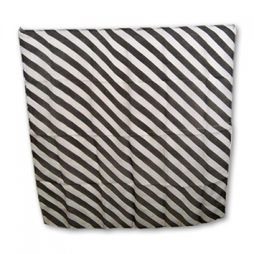 Zebra Silk 18 inch (Black & white)